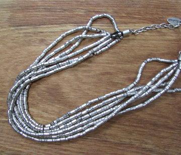 HeviHandmade; Zilveren sieradenlijn Halsketting Hevi Six rows
