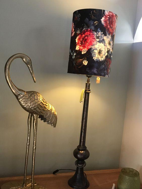 Fluwelen lampenkap & decoratie Colmore