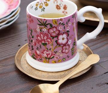 Katie Alice Eastern Flora Mok rose, gedecoreerd met vrolijk bloemenmotief