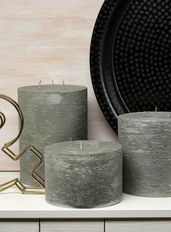 Branded By; Hoge kwaliteitskaarsen Stompkaars Metallic Green 3 lonten