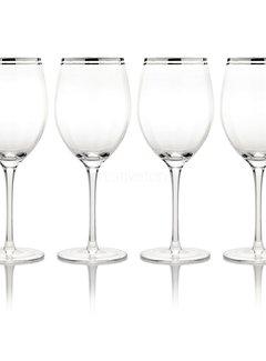 Mikasa Serviezen Mikasa Haley Set. 4 Platinum 19Oml. wijnglazen