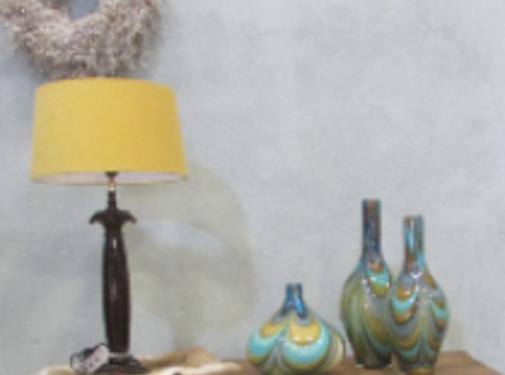 Zisensa, private collection Unieke woonaccessoires Lampenkap okergeel