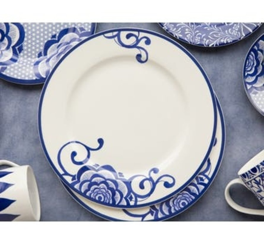 Copy of V&A The Cole Collection dinerbord wit kleine bloem