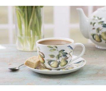 The English Table; Engels porselein met vogels Lente Fruit serie kop & schotel