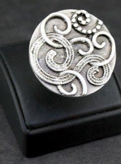 HeviHandmade; Zilveren sieradenlijn Zilveren Ring Curls