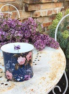 Katie Alice Wild Apricity; Compleet Engels Jachtservies met bloemen Mok, Blauw met vogels en bloemenmotief