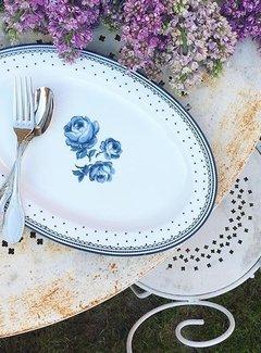 Katie Alice Vintage Indigo; Compleet Engels Servies Blauw Wit Katie Alice Vintage Indigo Ovale serveerschaal