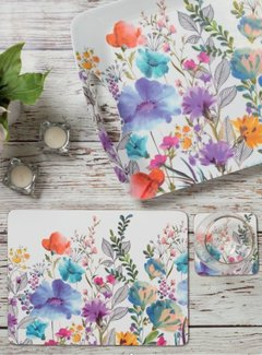 KitchenCraft; Engelse Kwaliteitsprodukten Set van 4 placemats weide-bloemen