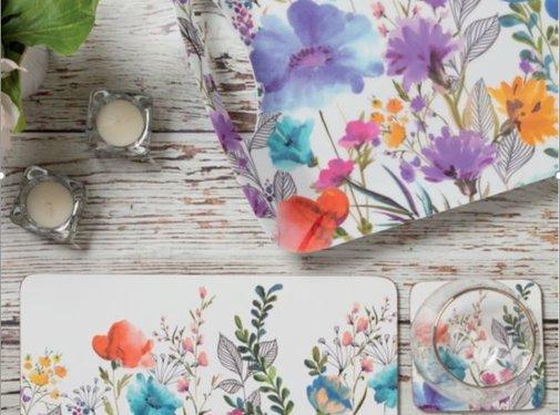 Creative Tops; Engelse Kwaliteitsprodukten Set van 4 placemats weide-bloemen