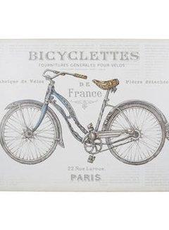 Zisensa, private collection Unieke woonaccessoires Placemats fiets, Bicycle set van 4