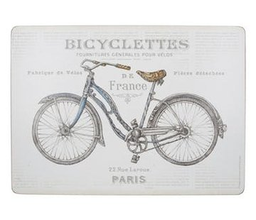 Zisensa, private collection Unieke woonaccessoires Placemats fiets, Bicycle set van 4