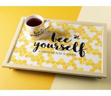 "Creative Tops; Engelse Kwaliteitsprodukten Laptray - ""bee yourself"""