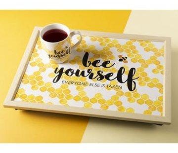 "KitchenCraft; Engelse Kwaliteitsprodukten Laptray - ""bee yourself"""