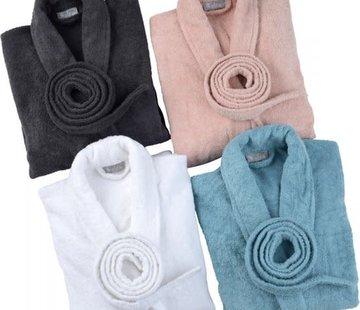 Walra Bed & Badgoed WALRA Badjas, Home Robe Mila, antraciet, wit,