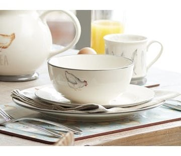 KitchenCraft; Engelse Kwaliteitsprodukten Feather Lane bowl, kom met kip