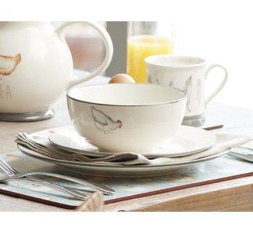 KitchenCraft; Engelse Kwaliteitsprodukten Feather Lane bowl, kom met kip