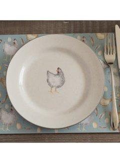KitchenCraft; Engelse Kwaliteitsprodukten Feather Lane ontbijtbord met kip