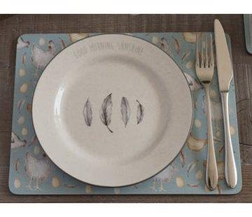 Creative Tops; Engelse Kwaliteitsprodukten Feather Lane ontbijtbord met veren