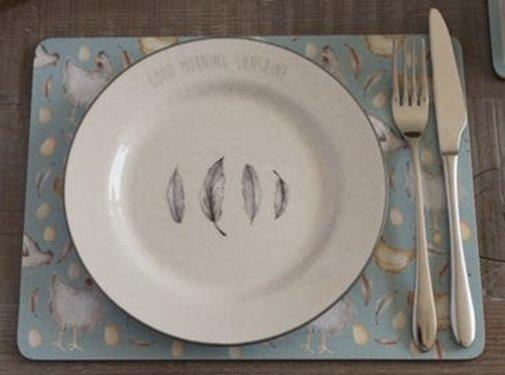 KitchenCraft; Engelse Kwaliteitsprodukten Copy of Feather Lane ontbijtbord met kip