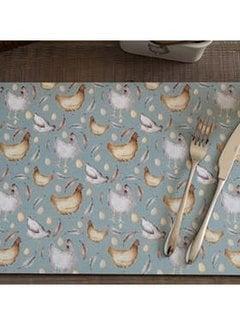 KitchenCraft; Engelse Kwaliteitsprodukten Feather Lane Placemats kippen