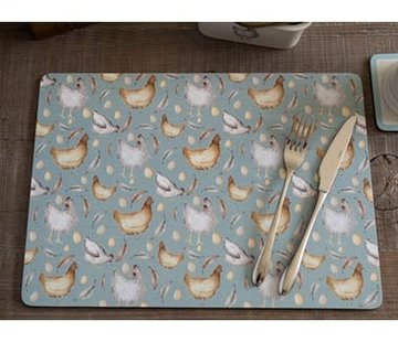 KitchenCraft; Engelse Kwaliteitsprodukten Feather Lane Placemats kippen