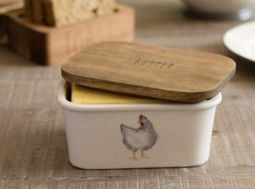 KitchenCraft; Engelse Kwaliteitsprodukten Feather Lane botervloot met kip