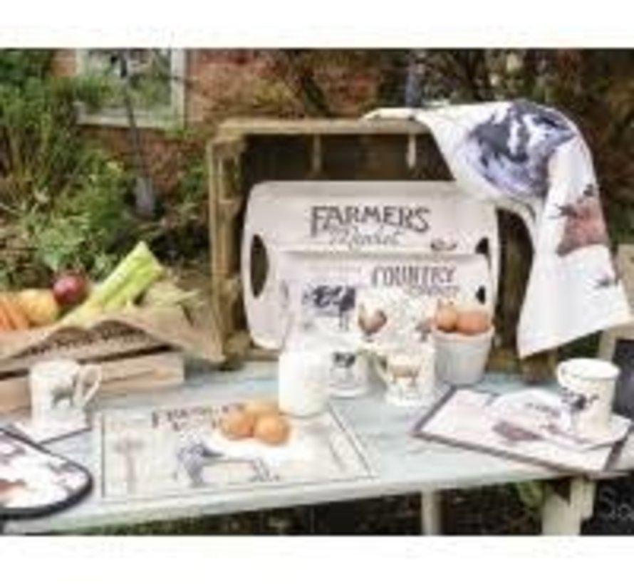 Onderzetter Farmers Market, boerderij, kip