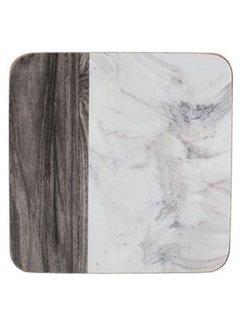 Creative Tops; Engelse Kwaliteitsprodukten Onderzetters motief hout & marmer Set/6