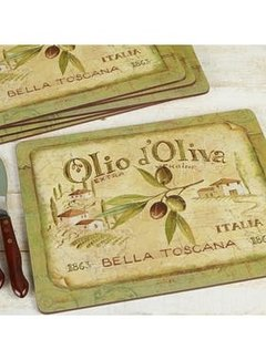 KitchenCraft; Engelse Kwaliteitsprodukten Copy of Onderzetters Olio dÓliva, set v/6