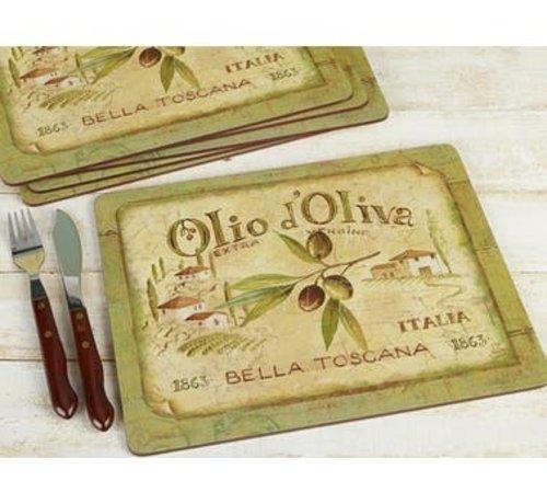 Creative Tops; Engelse Kwaliteitsprodukten Placemats klein Olio d'Olivia, italie set/6