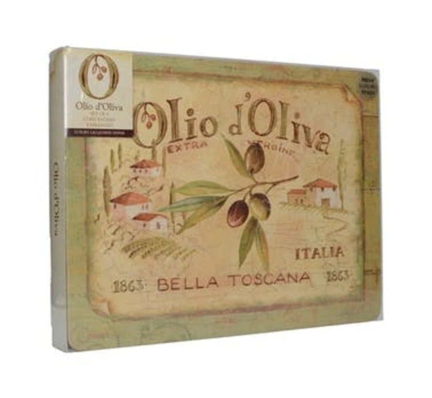 Placemats klein Olio d'Olivia, italie set/6
