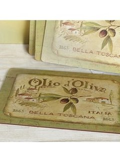 KitchenCraft; Engelse Kwaliteitsprodukten Copy of Placemats klein Olio d'Olivia, italie set/6