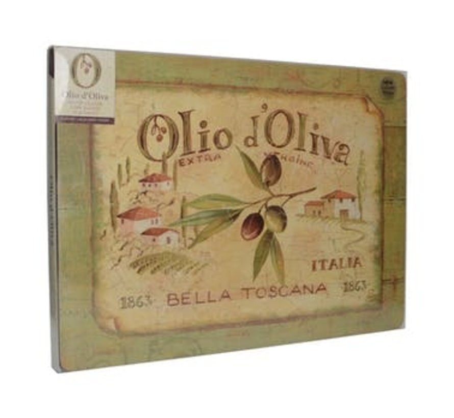 Placemats groot Olio d'Olivia, italie set/4