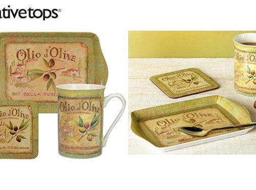 KitchenCraft; Engelse Kwaliteitsprodukten Kadoset Olio d'Olivia