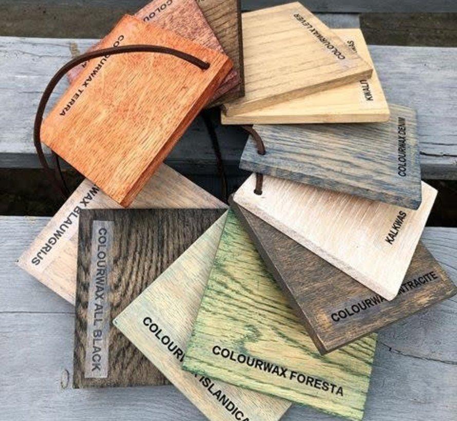 Colourwax op blank hout
