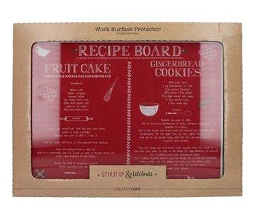 KitchenCraft; Engelse Kwaliteitsprodukten & Celebrate Glazen snijplank, werkbladbeschermer