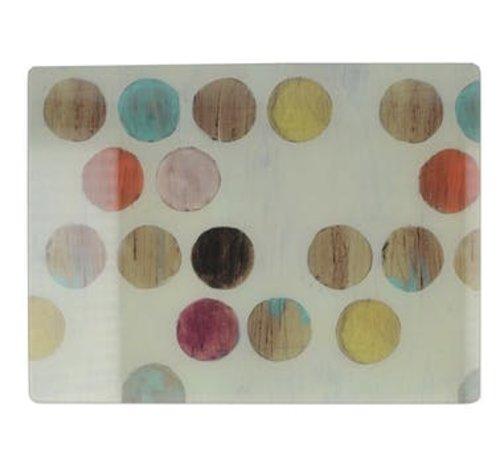 Creative Tops; Engelse Kwaliteitsprodukten Retro Glazen snijplank, werkbladbeschermer