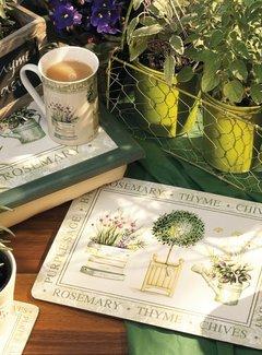 KitchenCraft; Engelse Kwaliteitsprodukten Laptray premium Topiary, kruiden