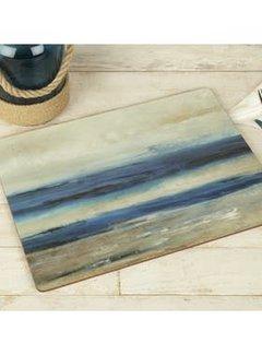 Katie Alice Vintage Indigo; Compleet Engels Servies Blauw Wit Set van 4 grote Placemats blauw - Blue Abstract