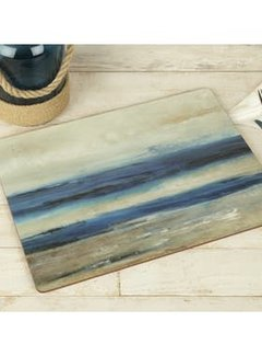 KitchenCraft; Engelse Kwaliteitsprodukten Set van 4 grote Placemats blauw - Blue Abstract