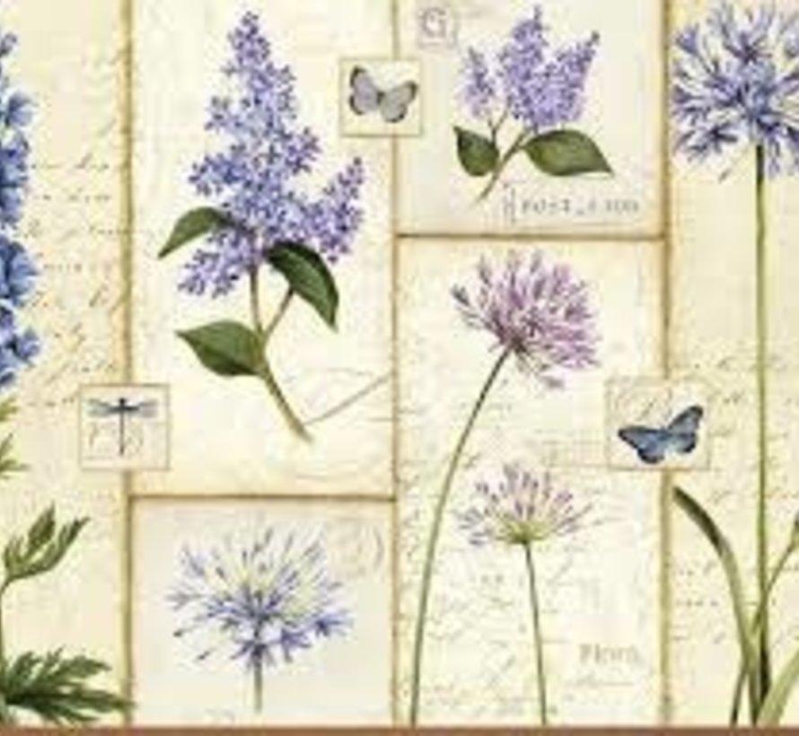 Placemats Etude de Fleur, blauwe bloemen