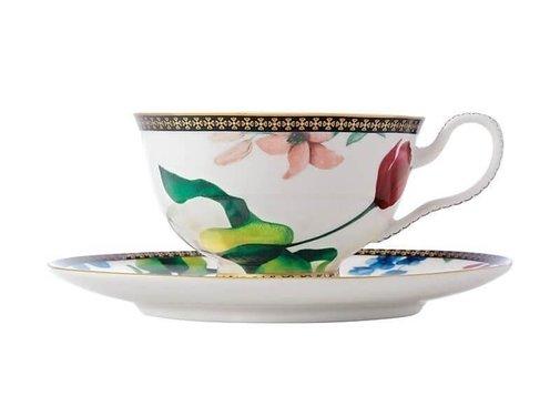 Maxwell & Williams Servies Tea's & C's Contessa Kop en Schotel wit