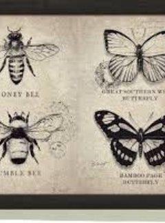 Zisensa, private collection Unieke woonaccessoires Laptray Vintage Bugs; vlinders en bijen
