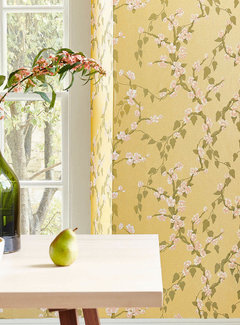 Little Green Behang Little Greene Behang Archive Trails Yellow Lustre