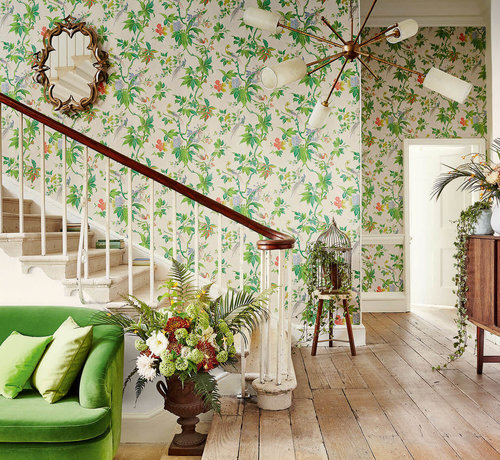Little Green Behang Little Greene Behang Archive Trails Paradise Feather