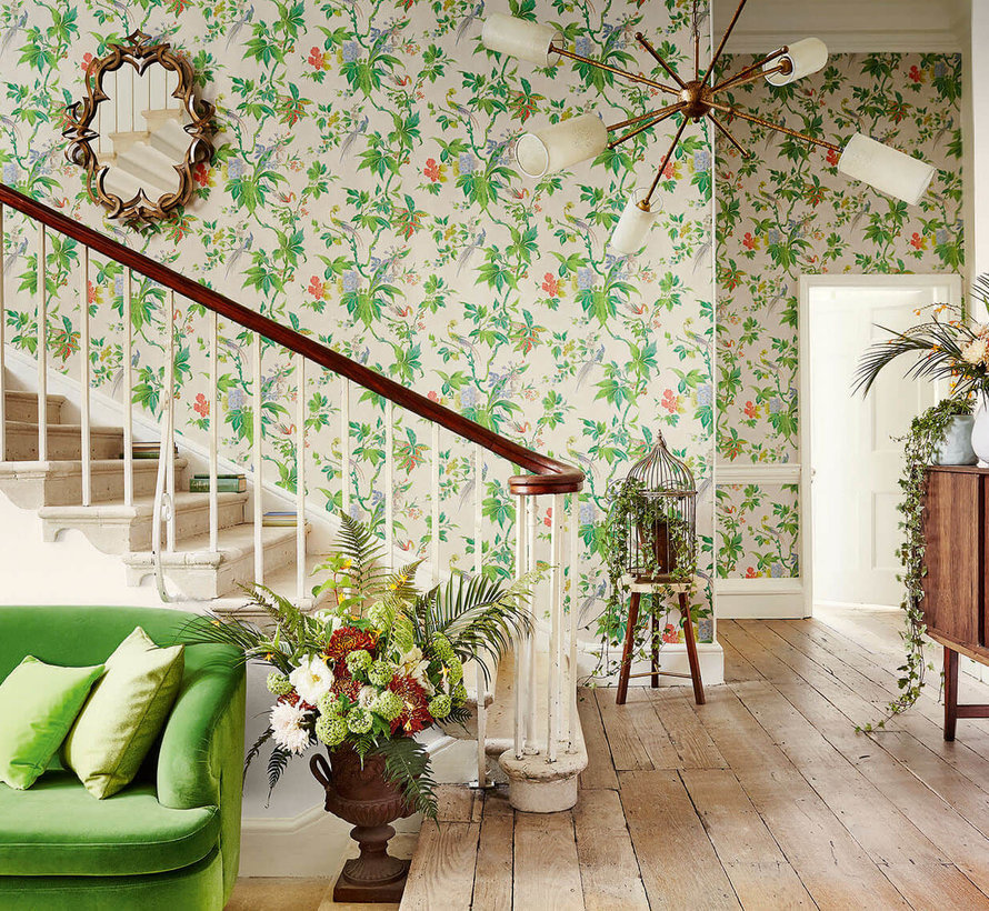 Little Greene Behang Archive Trails Paradise Feather