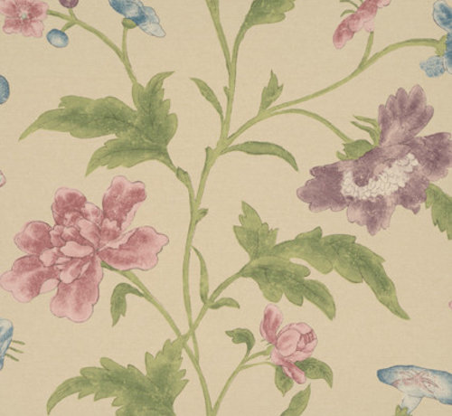 Little Green Behang Archive Trails China Rose Sage