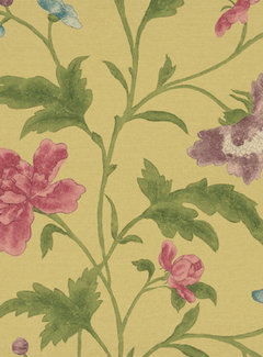 Little Green Behang Little Greene Behang Archive Trails China Rose Emerald Lustre