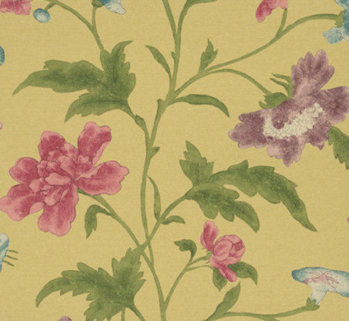 Little Green Behang Archive Trails China Rose -Emerald Lustre