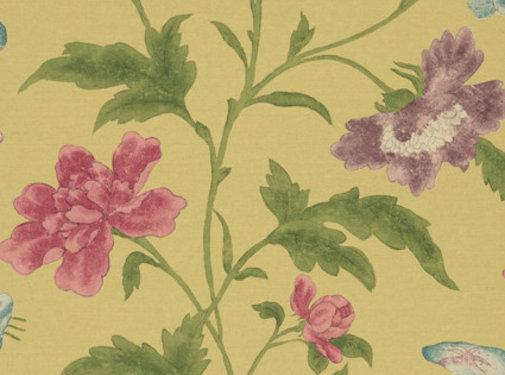 Little Green Behang Little Greene Behang Archive Trails China Rose Emerald Lustre